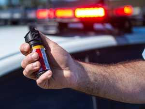 Police capsicum spray French tourist