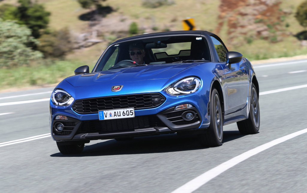 LOOK OUT MX-5: No Fiat 124 Spider for Australia so we're stuck with this: the hot Abarth version. Poor us...