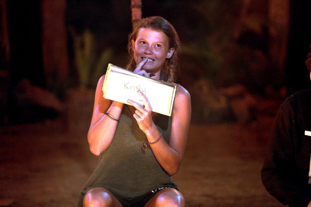 Felicity 'Flick' Eggington in a scene from the TV series Australian Survivor.