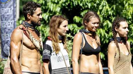 Lee, El, Flick and Kristie pictured in the Australian Survivor semi-final.