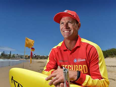 HUMBLED: Life guard Shane Bevan has taken out the national Surf Life Saving DHL Lifeguard of the Year Award on Saturday. Shane on patrol at Alex Surf Club.
