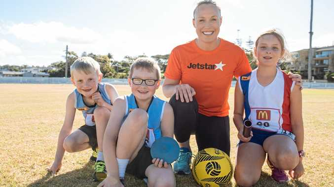HEALTHY BEGINNINGS: Australian netball representative Kimberlee Green is looking forward to revisiting her junior days in Little Athletics.