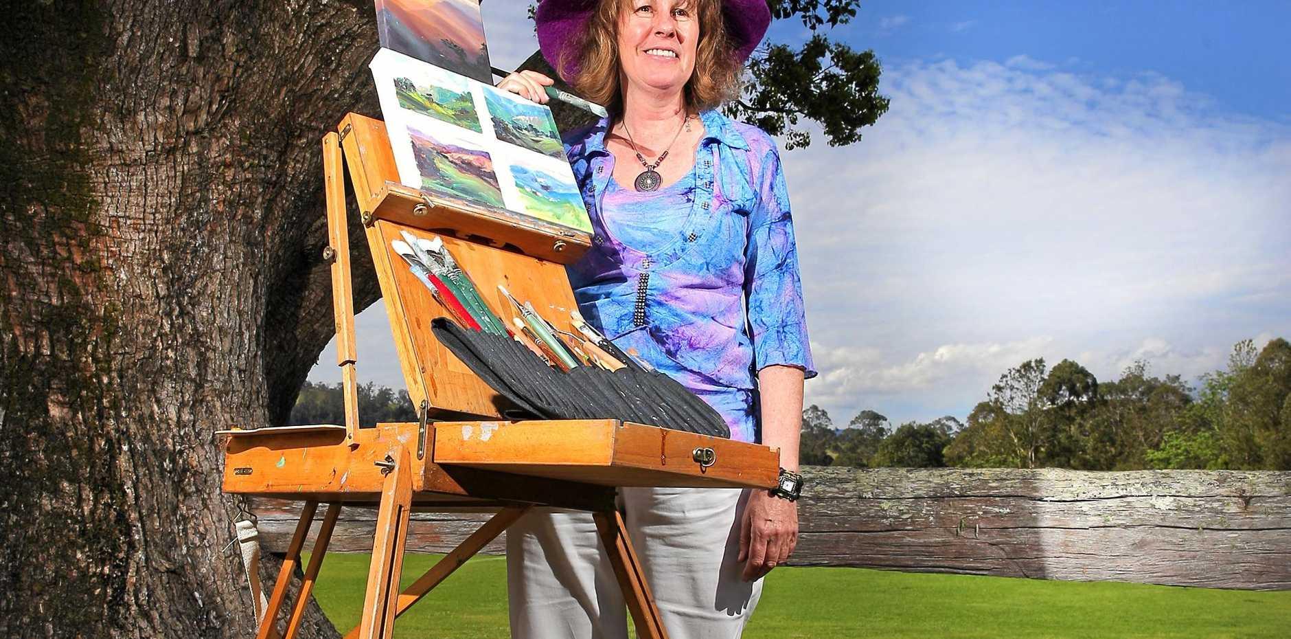 COLOUR: Murwillumbah artist Barbara Suttie, pictured at beautiful Tyalgum.
