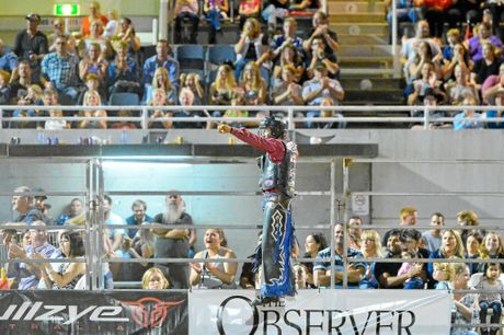 Jason Mara took second place with a score of 84.5 when the PBR came to Gladatone on Saturday night.