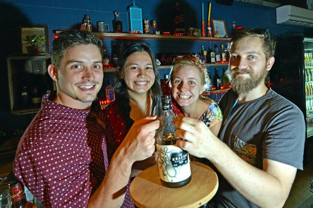 FIRST BUSINESS SOLD: Former The Nook and Cranny owner Cameron Scott (left) is excited for what's to come in Nambour.