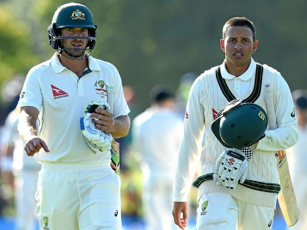 Dropped Test batsmen Joe Burns (left) and Usman Khawaja will be looking for runs for Queensland against NSW at the Gabba.