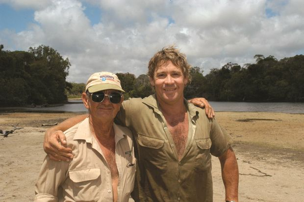 Bob Irwin with his son Steve.