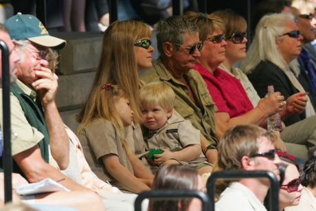 The Irwin family at the public memorial service following Steve's death.