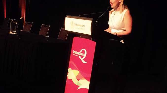 Tourism and Major Events minister Kate Jones at the DestinationQ Forum in Mackay.