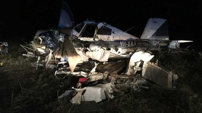 A light aircraft that crashed on a property near Rolleston about 4pm on October 24.
