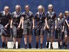 Students at Fairholme College win medals at the Queensland championships. From left,Samantha Lenton, Ellie Bowyer, Natalie Webster, Bella McLoughlin, Georgia Heath, Celeste Pratt, Chloe Randall October 25, 2016