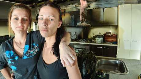 Telitha Abbott and Jamee Robson are slowly rebuilding Telitha and her familys lives after a fire tore through their Calliope rental home.