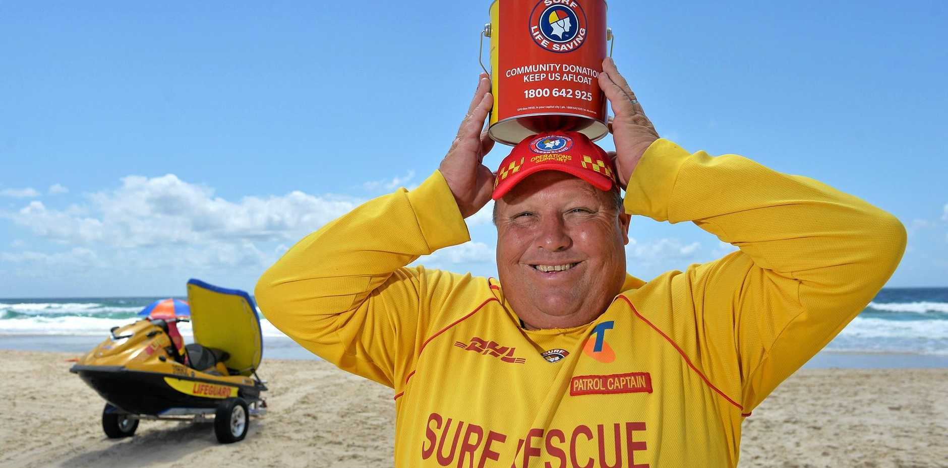 GIVE GENEROUSLY: David McLean from Marcoola Surf Life Saving Club is helping to raise money in this year's Surf Safe Appeal.