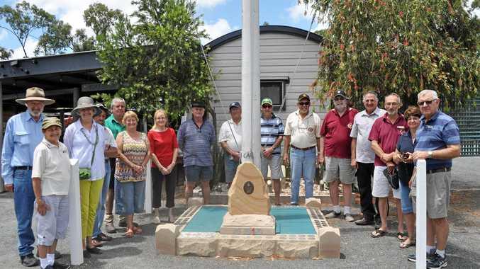 REVVED UP: MG Car Club members of Capricornia visit Cockscomb Veterans Retreat.