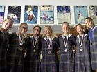Students at Fairholme College win medals at the Queensland championships. From left,Samantha Lenton, Ellie Bowyer, Natalie Webster, Bella McLoughlin, Georgia Heath, Celeste Pratt, Chloe Randall October 25, 2016
