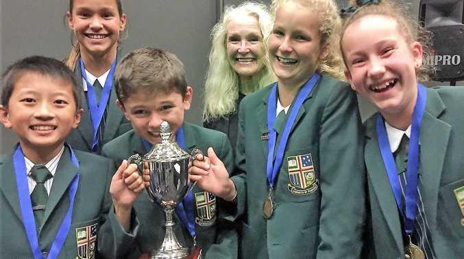 WINNERS: Sunshine Coast Grammar's Year 6 debating team champions 2016.
