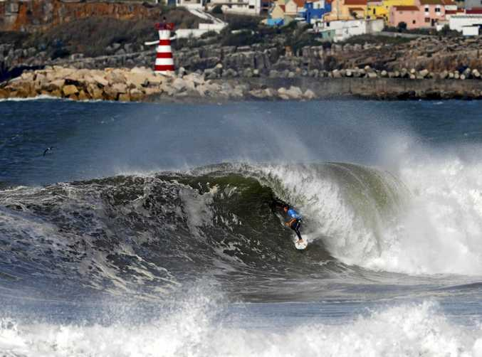 WIPED OUT: Julian Wilson's Portugal Pro is over, ending in a semi-final loss to John John Florence overnight.