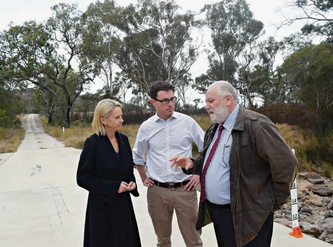 POWERHOUSE: Minister for Regional Development Fiona Nash, Member for Maranoa David Littleproud and Southern Downs councillor Vic Pennisi.