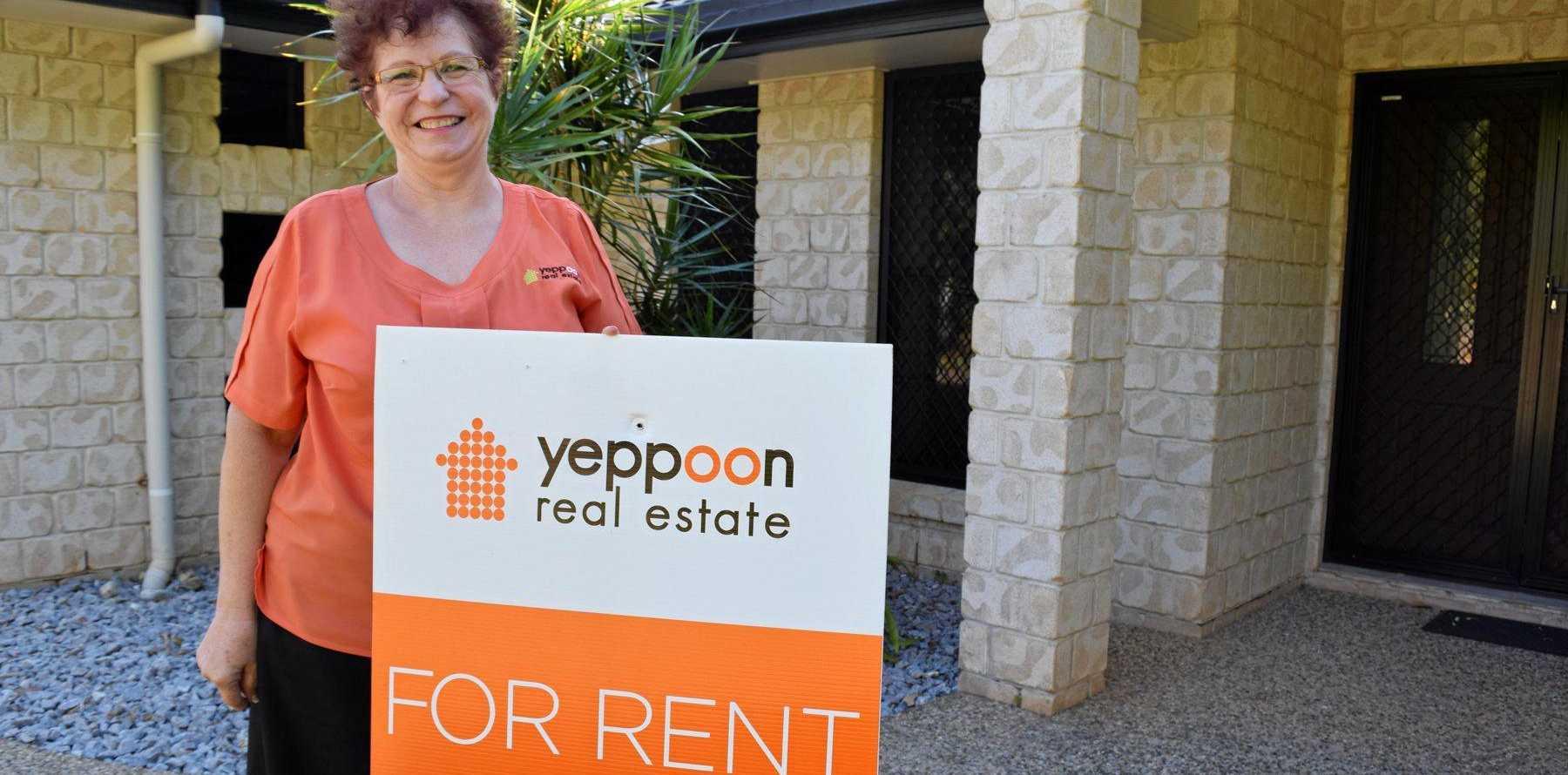 Yeppoon Real Estate principal and owner Esme Coren at one of their rental properties in Yeppoon.
