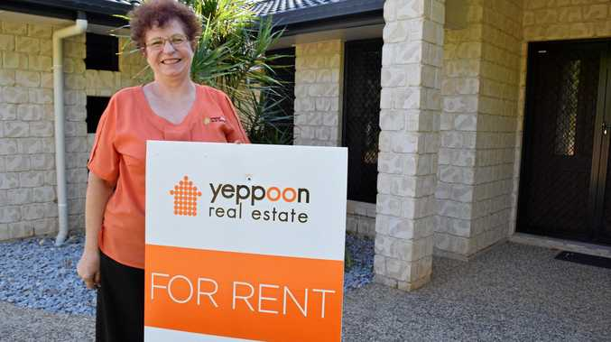 Yeppoon Real Estate principal and owner Esme Coren at one of their rental properties in Yeppoon.