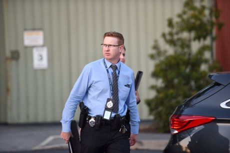 Police Detective Adam Stanford at Dreamworld, after the deaths of four adults in a ride accident.