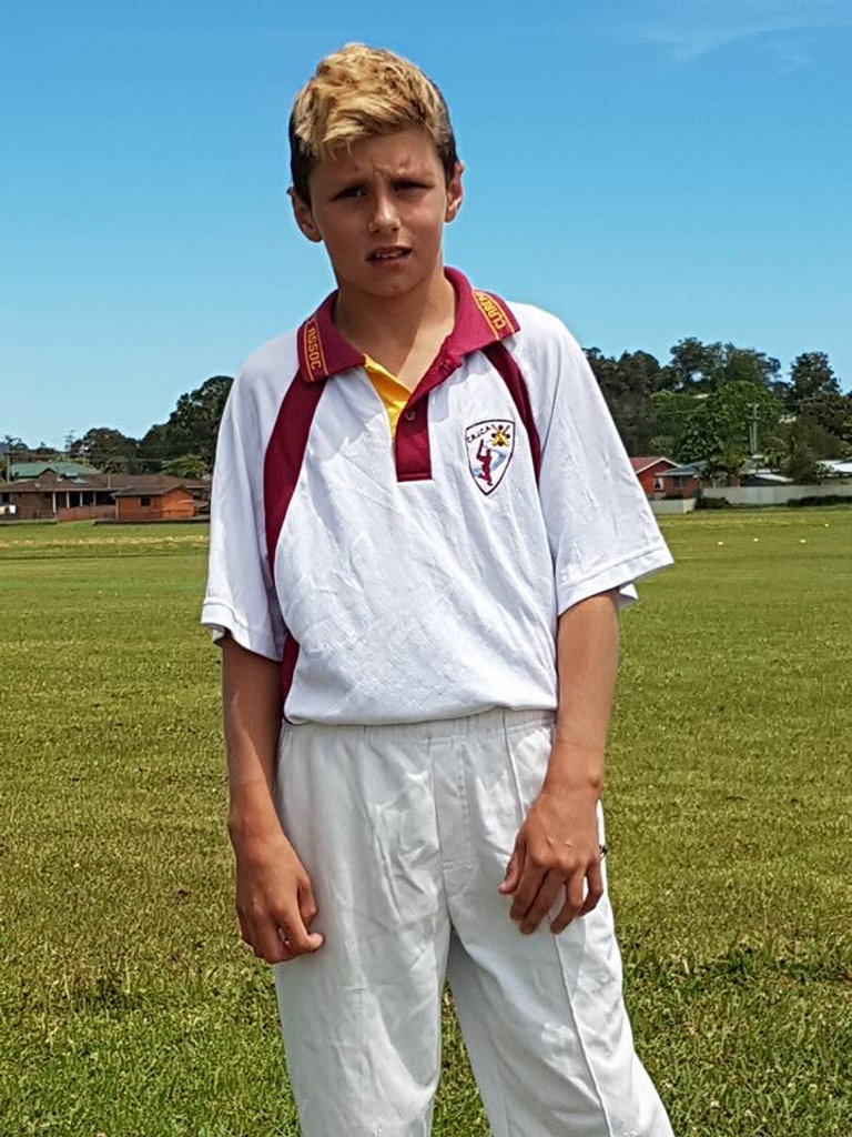 Keaton Stutt starred for Clarence River Under-12s with 80 not out and three wickets against Nambucca-Bellingen in round one of the North Coast Cricket Council Inter-District competition on Sunday, 23rd October, 2016.
