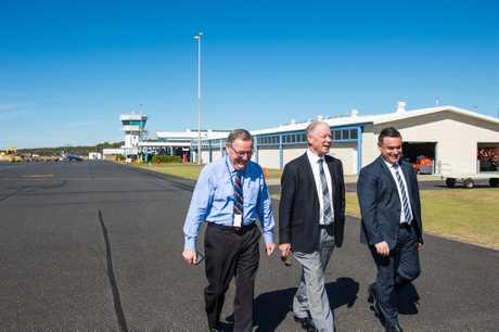 Dennis Martin with Member for Coffs Harbour Andrew Fraser and Deputy Premier John Barilaro.