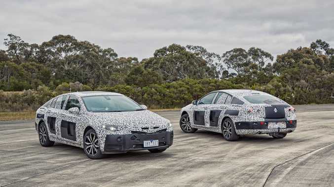 2018 Holden Commodore in camouflage pictured at Holden's Lang Lang Proving Ground, Victoria.