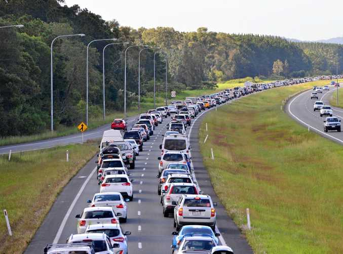 The Bruce Highway regularly becomes a car park after an accident