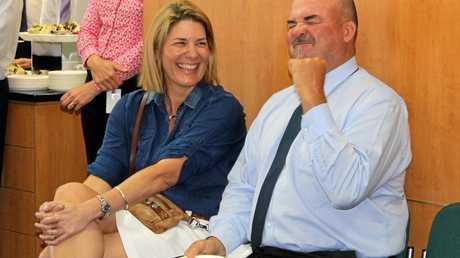 Lauren Bella's mum, Cecily Bella, and uncle Cr Martin Bella at the bursary handover.