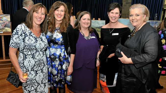 Fairholme College gets ready to celebrate its centenary next year. Having a great time are (from left) Doreen Torrence, Alison Scott, Kim Scudamore, Kylie Wallis and Tina Hammond.