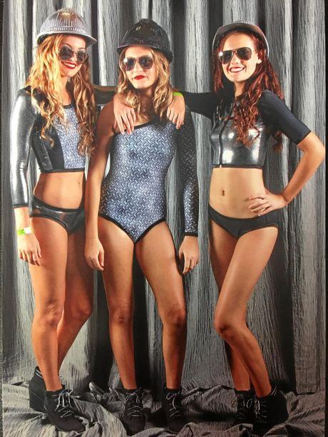 Mackay teen Kiralee Welsh's swimwear designs.