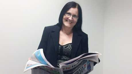 Supermum Sharyn O'Neill seeing better with new reading glasses.