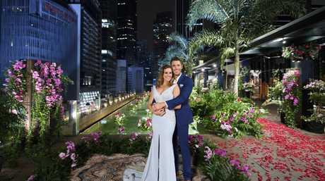 Georgia Love with The Bachelorette winner Lee Elliott in Singapore.