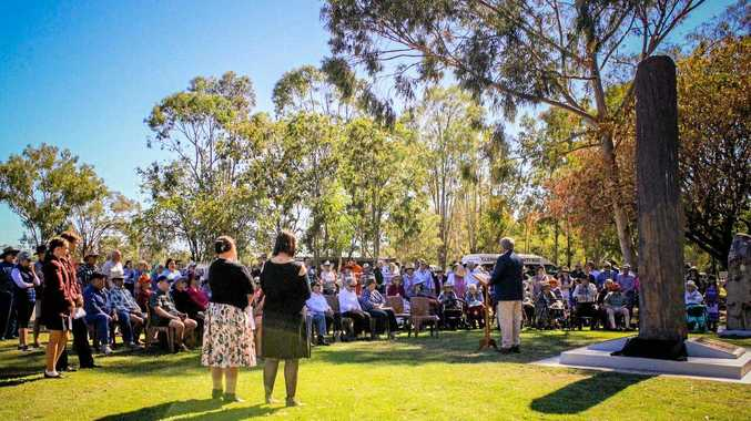 LARGE ATTENDANCE: The Clermont community gathered at Ivan Bettridge Park over the weekend to remember the lives lost in the devastating 1916 Flood.
