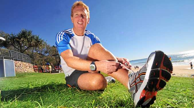 LACING UP: Lance Taylor before for the Gold Coast Marathon in 2009. He's set to race in Noosa for the 20th time.