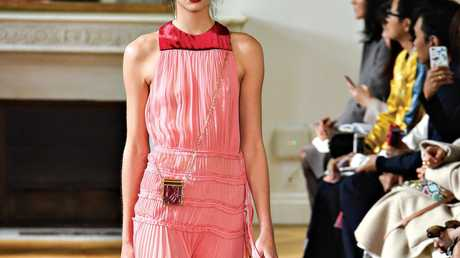 Flowing fabrics, as shown in Valentino's Spring-Summer 2017 fashion collection, translate well to racewear.