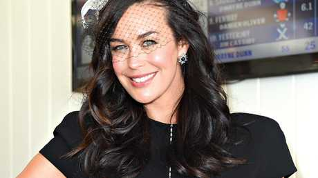 Megan Gale in the Birdcage on Derby Day, in 2014.
