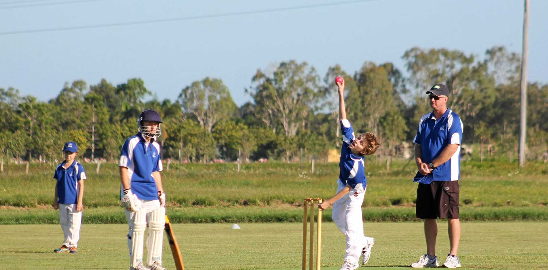 ON THE WICKET: Previous junior cricketers (pictured) in Friday afternoon action.