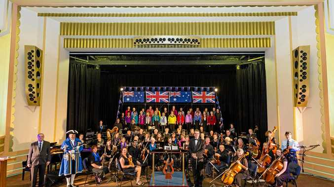 AFTERNOON DELIGHT: The Clarence Valley Orchestra and Chorus on stage at the Saraton at this year's Anzac concert. Their much-anticipated An Afternoon at the Proms is on this Sunday with special guest Sound of Music star Nicholas Hammond.