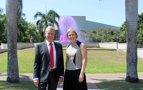 Mackay Regional Council Mayor Greg Williamson with Deputy Mayor Amanda Camm, chair of the council's Economic Development and Planning Committee.