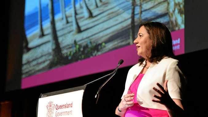 Premier Annastacia Palaszczuk would not commit to Mackay's push for Adani HQ.