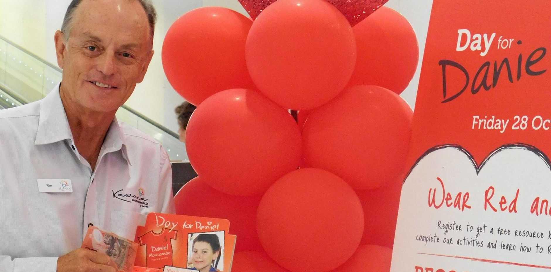 UPBEAT: Kawana Shoppingworld centre manager Kim MacKay says shoppers are giving generously to the Daniel Morcombe Foundation this week.
