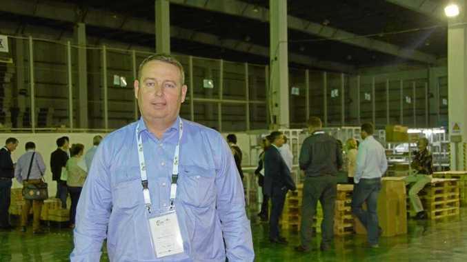 SILK ROAD: Maranoa Regional Council Mayor Tyson Golder at the Saicheng (Australia Post-China Post Joint Venture) warehouse as part of the Toowoomba and Surat Basin Enterprise AccessChina'16 delegation.