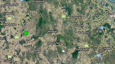 EARTHQUAKE: Geoscience Australia recorded a magnitude 2.2 quake near Eidsvold and Mt Perry.Photo Geoscience Australia