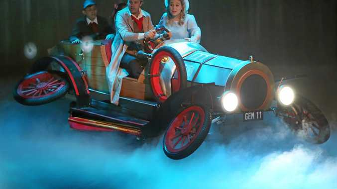 MAGICAL MUSICAL: Matthew Dennis and Catherine Schwarten star as Caractacus Potts and Truly Scrumptious in RMU's production of Chitty Chitty Bang Bang.