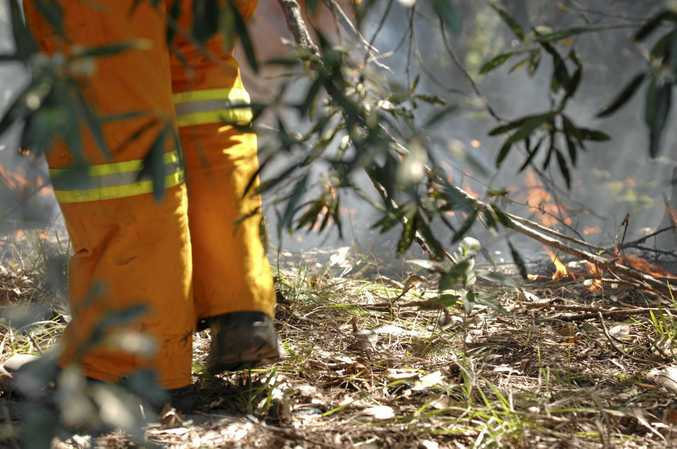 Fire fighters are currently battling a large bushfire near Barambah.
