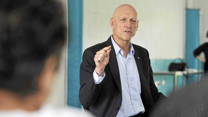 Minister for School Education Peter Garrett visited Leichhardt State School on Wednesday. Photo: Rob Williams / The Queensland Times