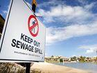 Sewage contamination of a river. File photo.