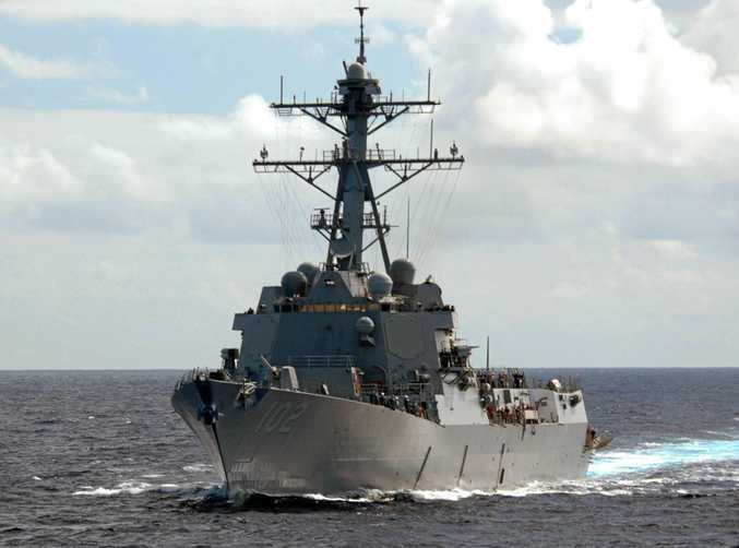 The guided-missile destroyer USS Sampson will visit New Zealand next month.